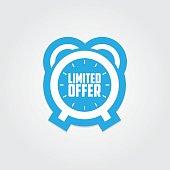 Limited offer promotional sticker label.