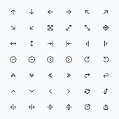 Line Arrow icon set