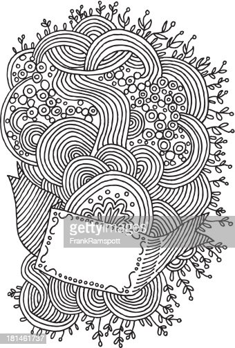 Line Drawing Doodles : Line art doodle swirls pattern drawing vector getty
