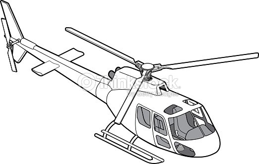 Line Drawing Helicopter : Line art isometric as helicopter right view vector