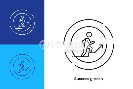 line art stick walk up business growth scalable vector icon in modern outline style lineart elements vector illustration stock vector thinkstock 2
