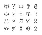 Simple Set of Awards Related Vector Line Icons. Editable Stroke. 48x48 Pixel Perfect.