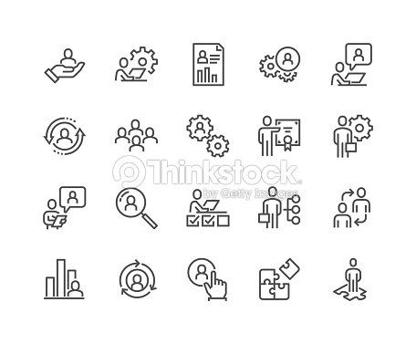 Line Business Management Icons : stock vector