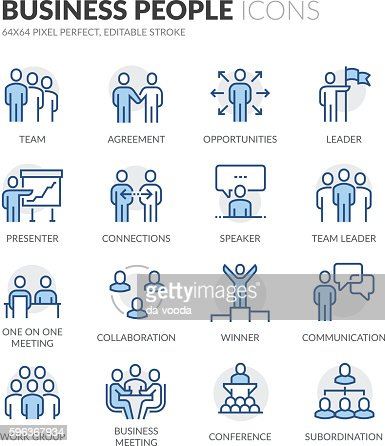 Line Business People Icons : Vector Art