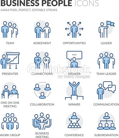 Line Business People Icons : stock vector