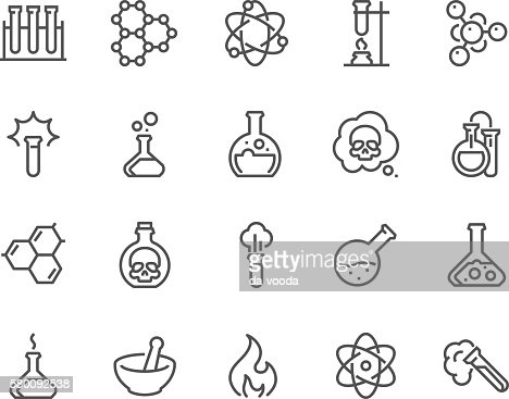 Line Chemical Icons : stock vector