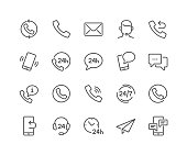 Simple Set of Processing Related Vector Line Icons. Contains such Icons as Support, Chat, Callback and more. Editable Stroke. 48x48 Pixel Perfect.