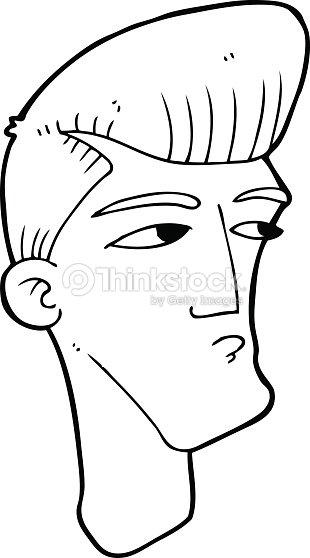 line drawing cartoon cool fashion guy vector art thinkstock