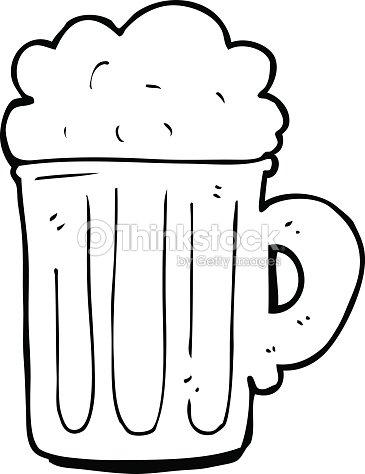 Linea Disegno Fumetto Boccale Di Birra Arte Vettoriale Thinkstock