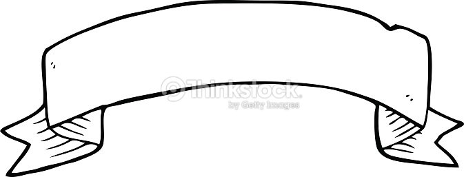 line drawing cartoon tattoo scroll banner vector art thinkstock