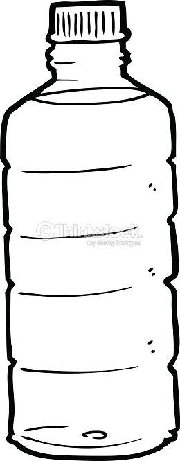Line Drawing Water : Line drawing cartoon water bottle vector art thinkstock