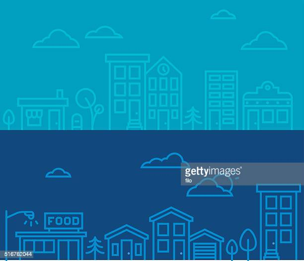 Linie Zeichnung Stadtblicke
