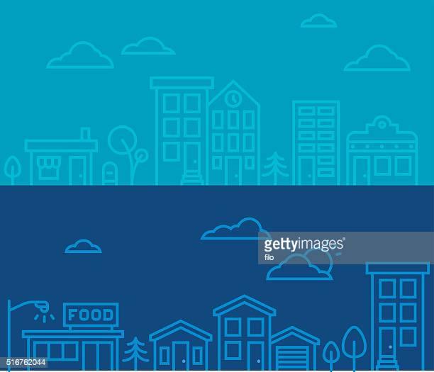 Line-Drawing scènes urbaines