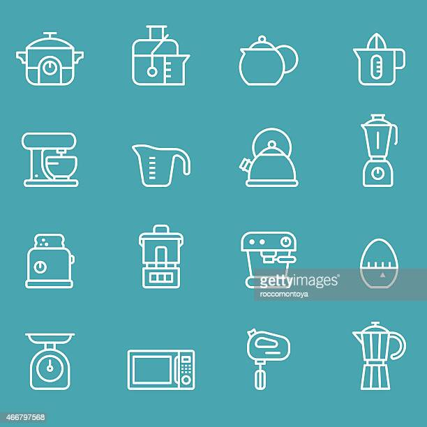 Liquidiser vector art and graphics getty images for Kitchen set drawing