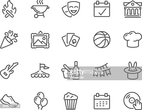 Line Event Icons : Vector Art