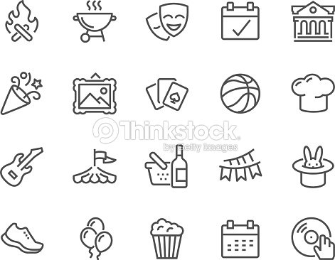 Line Event Icons : stock vector