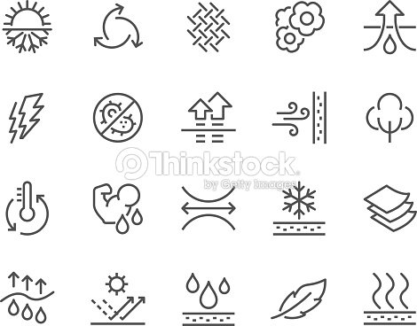 Line Fabric Feature Icons : stock vector