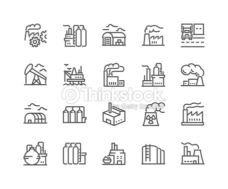Line Factories Icons : stock vector