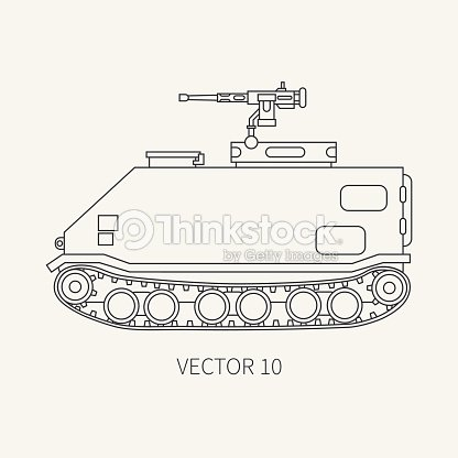 Line Flat Plain Vector Icon Infantry Assault Armored Army