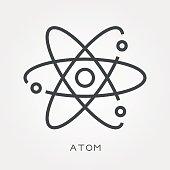 Line icon atom