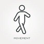 Line icon movement