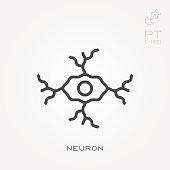 Line icon neuron