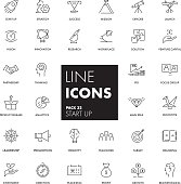 Line icons set. Start Up pack. Vector illustration.