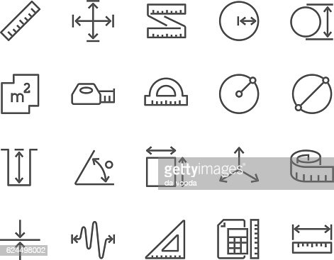 Line Measure Icons : stock vector