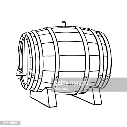 Line sketch of barrel : Vector Art