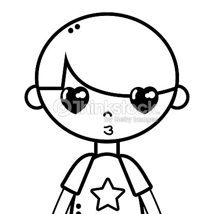 Line Tender Boy Child With Pijama And Hairstyle Vector Art Thinkstock