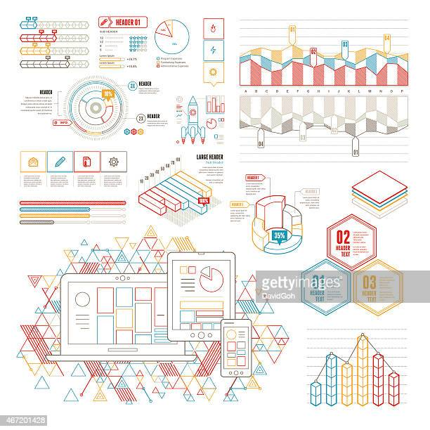 Line UI Infographic Elements