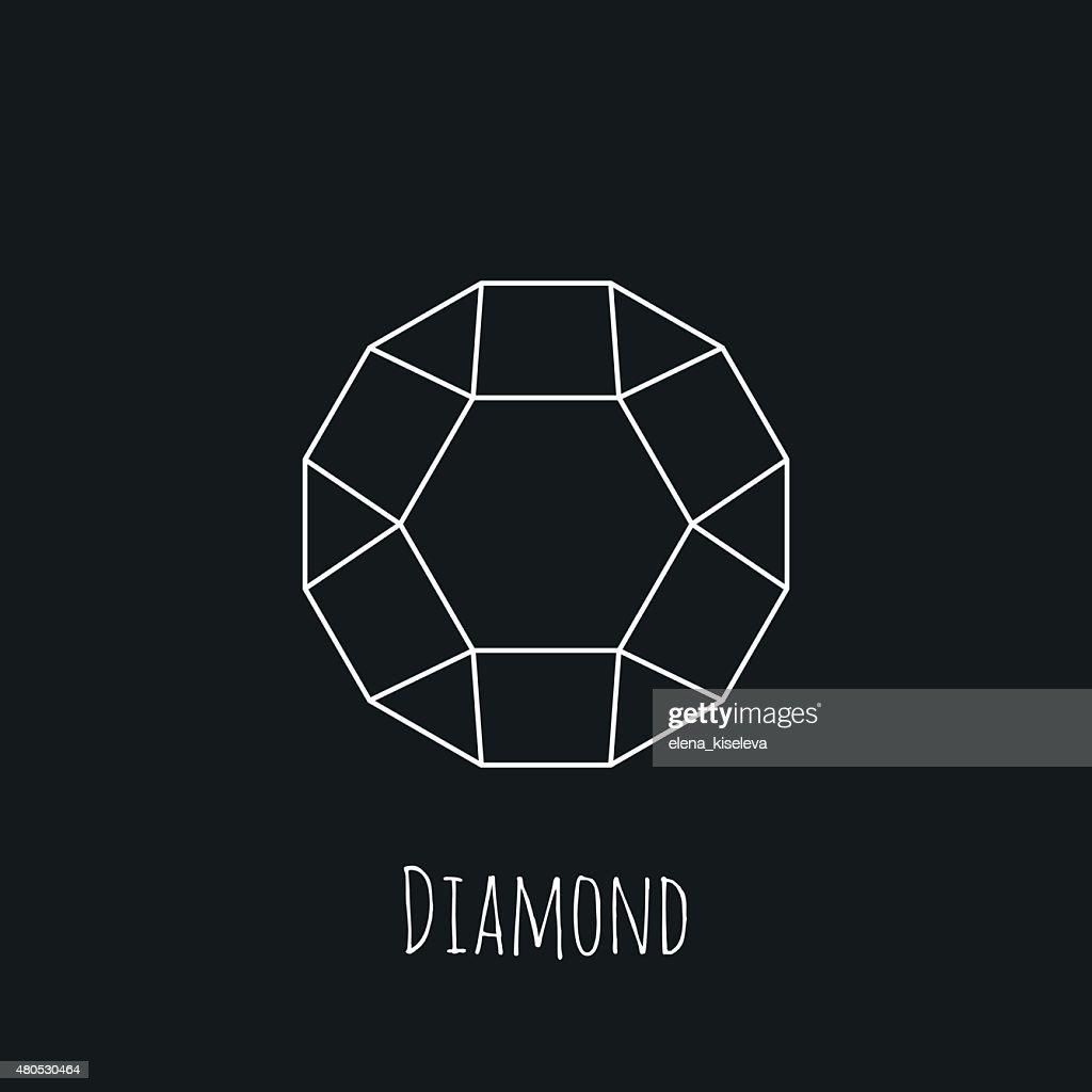 Line wireframe stone shape design logos and icons elements for : Vektorgrafik