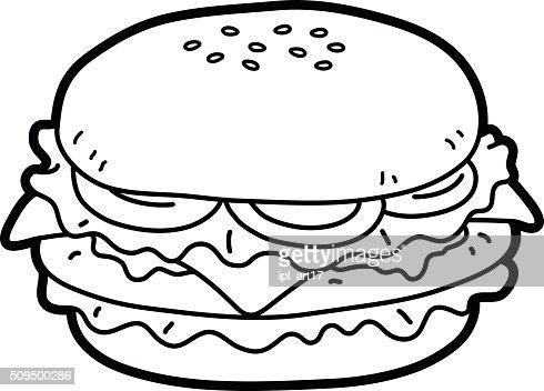 Lineart Burger Vector Art Thinkstock
