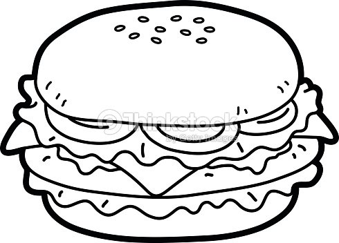 hamburger bun coloring page - photo #13