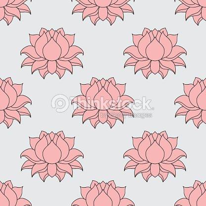 Lined lotus flower indian hindu motifs seamless pattern vector art lined lotus flower indian hindu motifs seamless pattern mightylinksfo