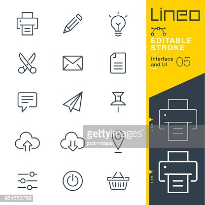 Lineo Editable Stroke - Interface and UI line icons : stock vector