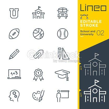 Lineo Editable Stroke - School and University line icons : stock vector