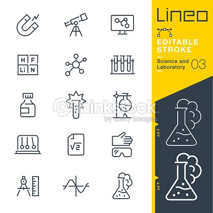 Lineo Editable Stroke - Science and Laboratory line icons : stock vector