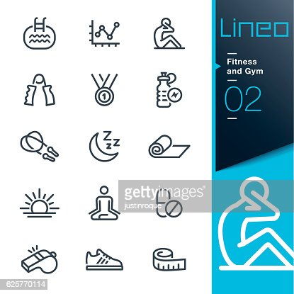 Lineo - Fitness and Gym line icons : stock vector