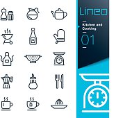 Vector illustration, Each icon is easy to colorize and can be used at any size.
