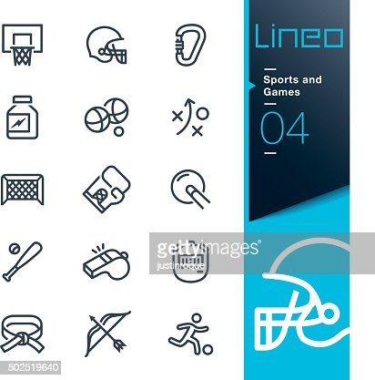 Lineo - Sports and Games line icons : stock vector