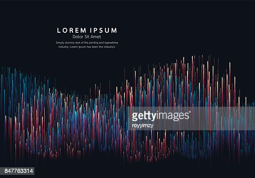 Lines composed of glowing backgrounds, abstract vector background : stock vector