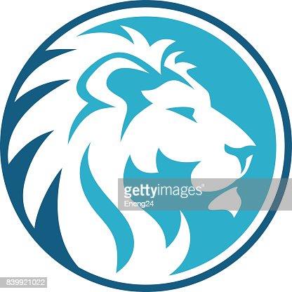 lion circle abstract : stock vector