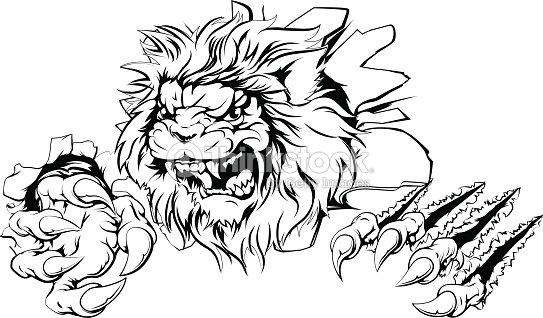 Kleurplaat Monster Energy Lion Claw Breakthrough Stock Vector Thinkstock