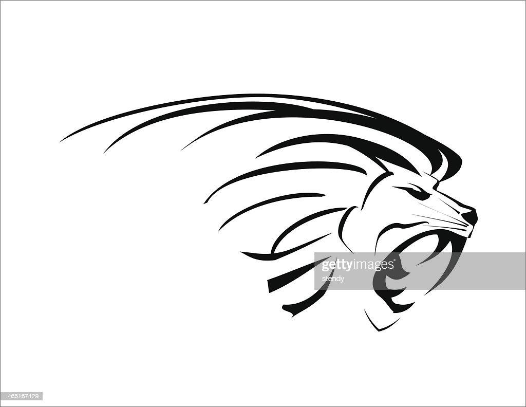 Line Art Lion : Lion head vector art thinkstock