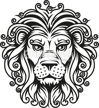 lion head vektorgrafik thinkstock