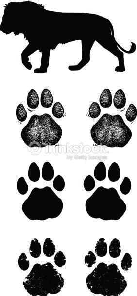 Patte de lion imprim s clipart vectoriel thinkstock - Patte de lion ...