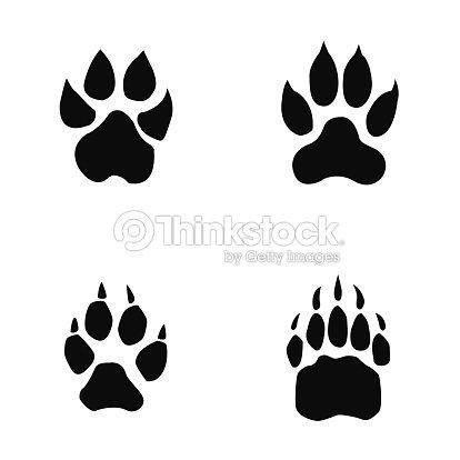 Lion Tiger Wolf Bear Footprint stock vector - Thinkstock