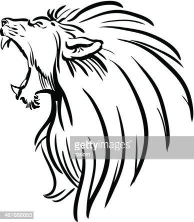 Lion roar vector - photo#15