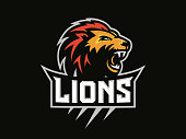 Lions head - sport logo, emblem